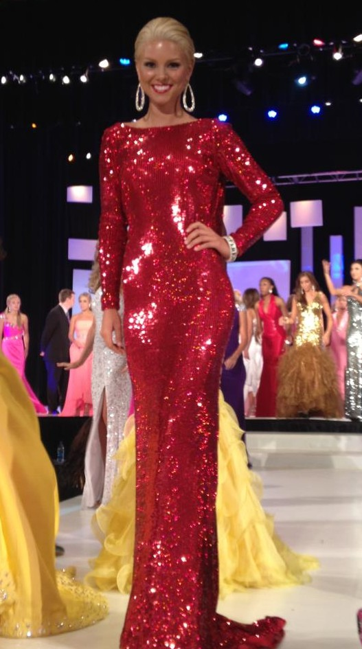 ali rogers talent gown