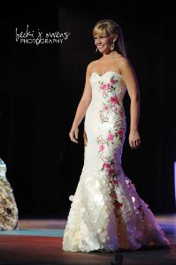 Caitlen Patton in Foxy Lady Evening Gown