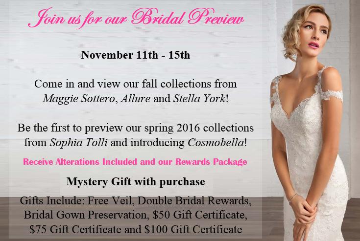 bridal preview sale