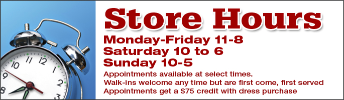 Monday to Friday 10am to 8pm, Saturday 9:45am - 6pm and Sundays 9:45am - 5pm