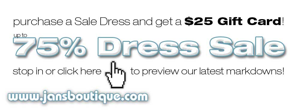 $99 Dress Sale at Jan's