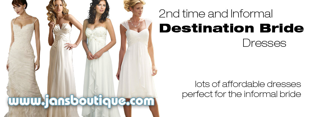 Destination & Informal Bridal Dresses at Jan's