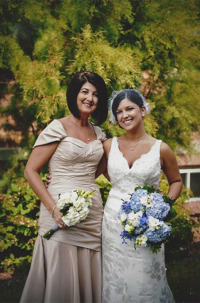 a bride with her mother