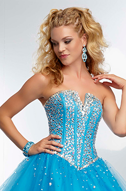 exposed corset bustier dress