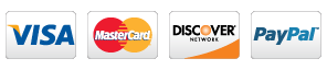 Visa, MasterCard, Discover, Paypal
