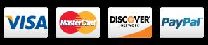 Visa, MasterCard, Discover, Paypal