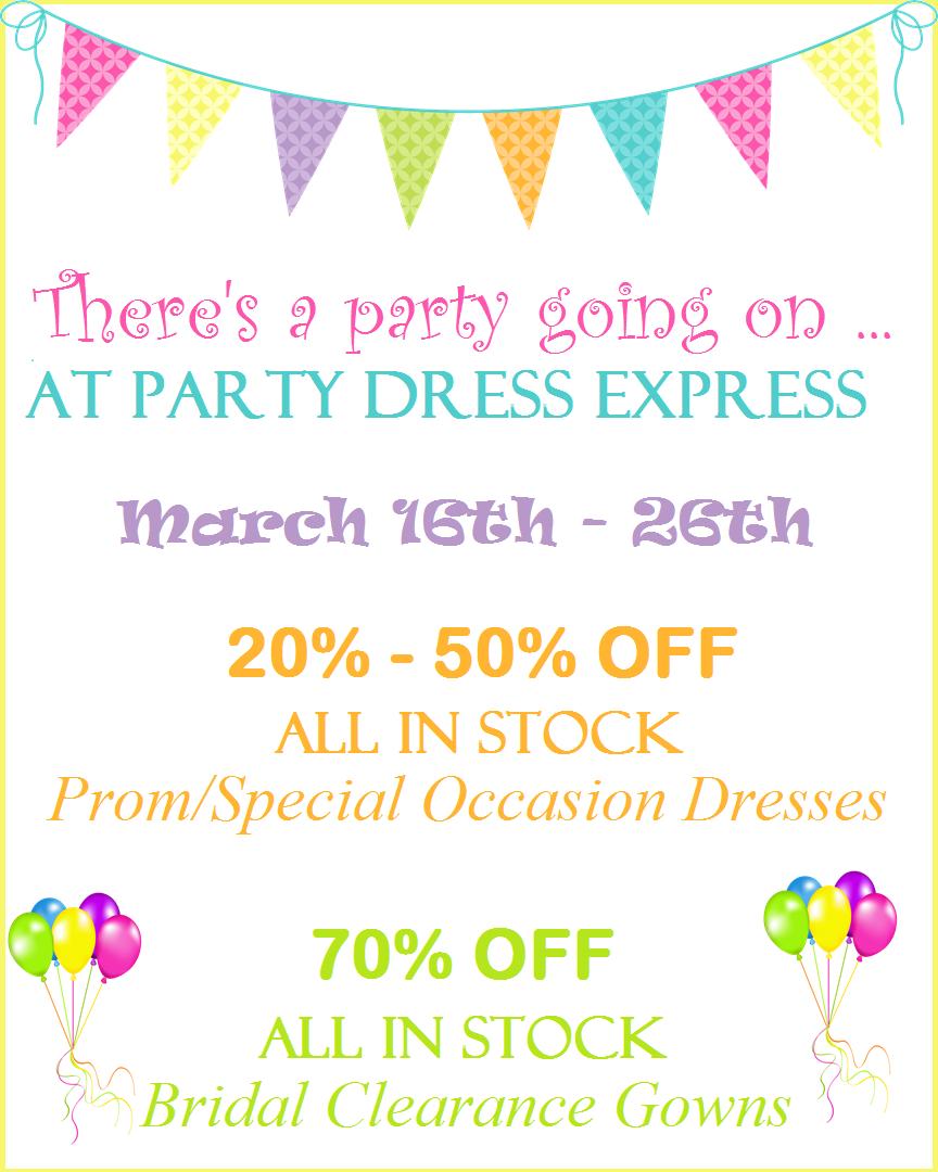 big sale party dress express