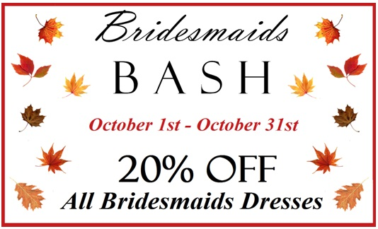 october bridesmaids bash