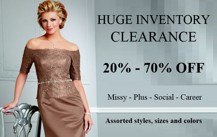 missy and plus size inventory clearance