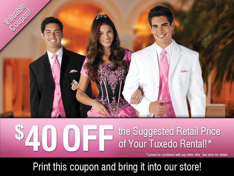 $40 off Quinceanera Tuxedos