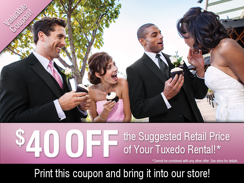 $40 off Wedding Tuxedos