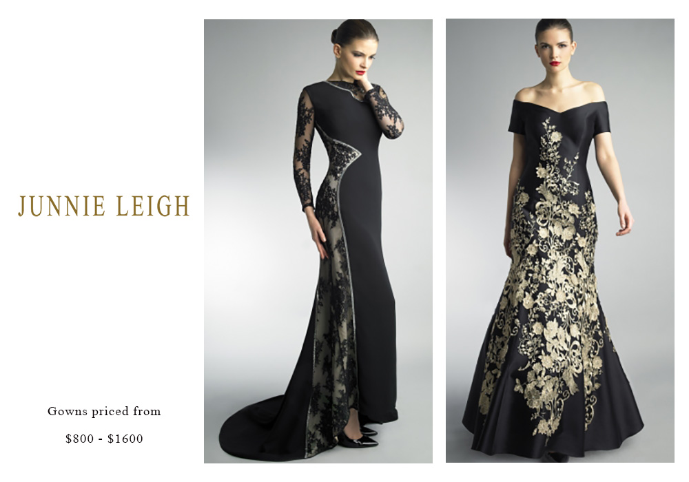 Junnie Leigh Gowns Priced from $800 to $1600
