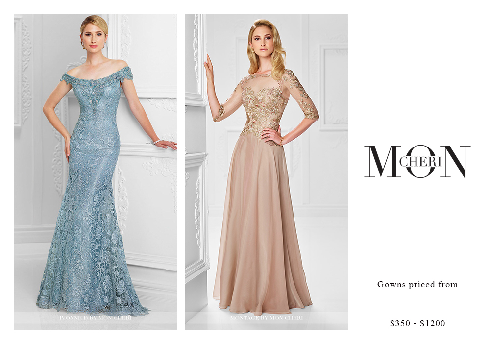 Mon Cheri Gowns Priced $350 - $1200