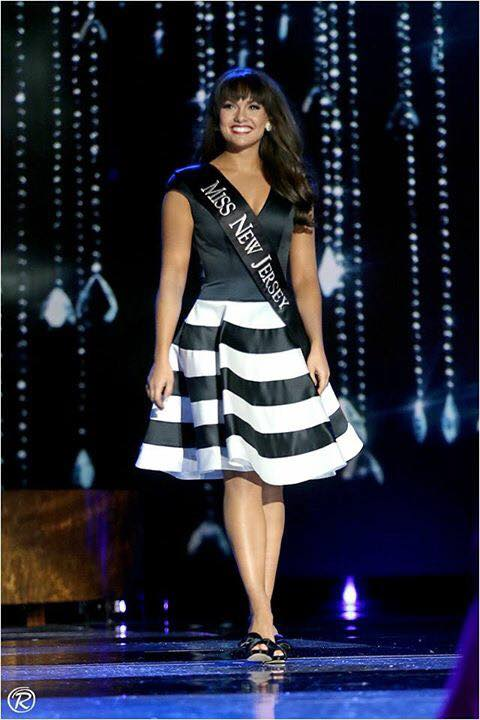 Miss New Jersey Brenna Weick in our dress at Miss America!